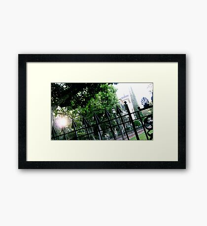 Haunted Iron Framed Print