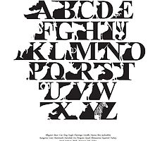 Alphabet zoo black and white by Budi Kwan