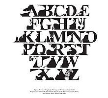 Alphabet zoo black and white Photographic Print