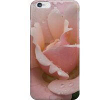 Rose and Rain - Soft Pink Raindrops iPhone Case/Skin