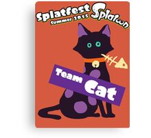 Splatfest Team Cat v.1 Canvas Print