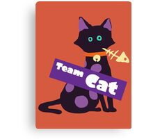 Splatfest Team Cat v.2 Canvas Print