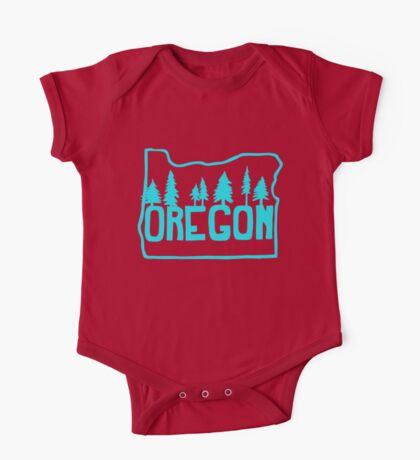 Oregon Evergreens One Piece - Short Sleeve