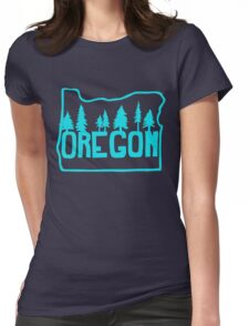 Oregon Evergreens Womens Fitted T-Shirt