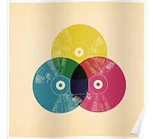 Cmyk music record Poster