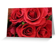 Red roses for my true love... Greeting Card