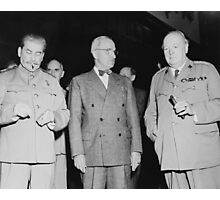 Stalin, Truman, And Churchill Photographic Print