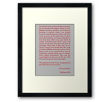 Kennedy's Equal Love Close Framed Print