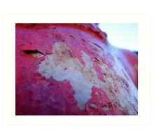 peeling red Art Print
