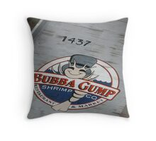 Bubba gump Throw Pillow