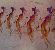 A Chorus Line à la Rock Art by serendip