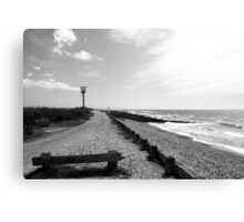 West Witterings Greyscale Canvas Print