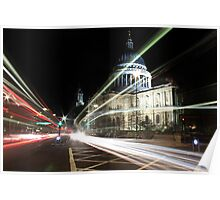 St.Pauls Light Trail Poster