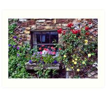 Cottage Window Art Print