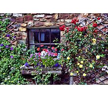 Cottage Window Photographic Print