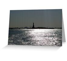 Liberty Island At Dusk Greeting Card