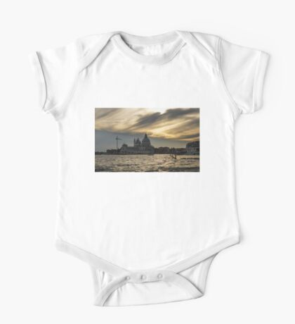 Watercolor Sky Over Venice One Piece - Short Sleeve