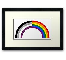 Homo-asexual Rainbow Framed Print