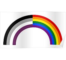 Homo-asexual Rainbow Poster