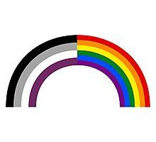 Homo-asexual Rainbow Photographic Print
