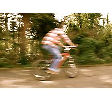 Cyclist Photographic Print