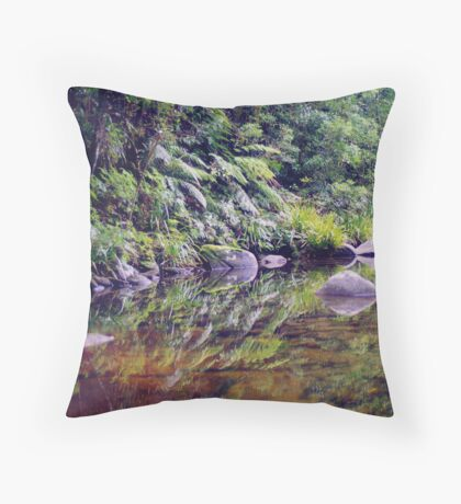 River Reflections, Coombadjha Creek Throw Pillow