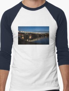 Midnight Lights on the Thames River - Blackfriars Bridge, London, UK Men's Baseball ¾ T-Shirt