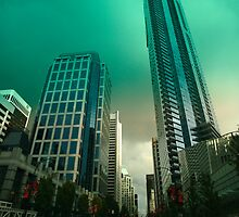 An evening drive through downtown Vancouver by John Gaffen