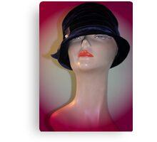 Black Vintage Hat Canvas Print
