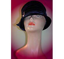 Black Vintage Hat Photographic Print