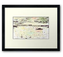 Rainy Day on the Harbour Framed Print