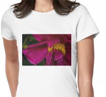 Petals and Drops - Hot Pink and Yellow Womens Fitted T-Shirt