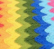 Rainbow Ripple Crochet Love Sticker