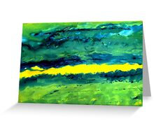 After the storm Abstract Greeting Card