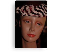 Black Striped Hat Canvas Print