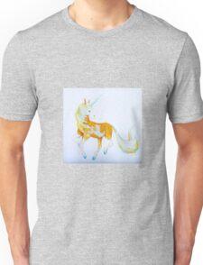 Pinto Palomino Unicorn  with Blue  Unisex T-Shirt