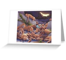 Daniel and the Lion's Den Greeting Card