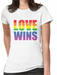 Love Wins Womens Fitted T-Shirt