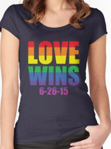 Love Wins 6-26-15 Women's Fitted Scoop T-Shirt