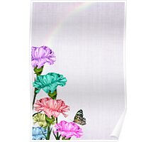 Colorful Carnations Poster