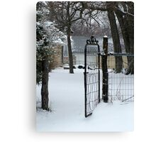 gated community? Canvas Print