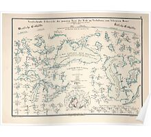 Atlas zu Alex V Humbolt's Cosmos 1851 0157 Water Map Poster