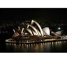 Opera House at Night, Sydney, Australia Photographic Print