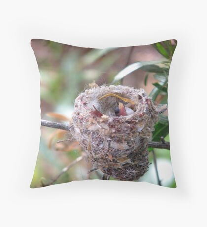 """Peek-a-boo"" Throw Pillow"