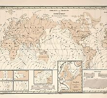 Atlas zu Alex V Humbolt's Cosmos 1851 0154 Earth Map Isorachien by wetdryvac