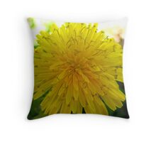Yellow Dandy Throw Pillow
