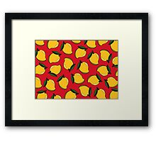 MANGO - RED Framed Print