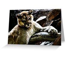 Cougar~Fractalius Greeting Card