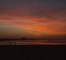 Sunset Surf - The Pass Byron Bay, Australia by Scott Smith