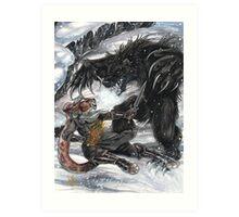 Werebear Battle Art Print